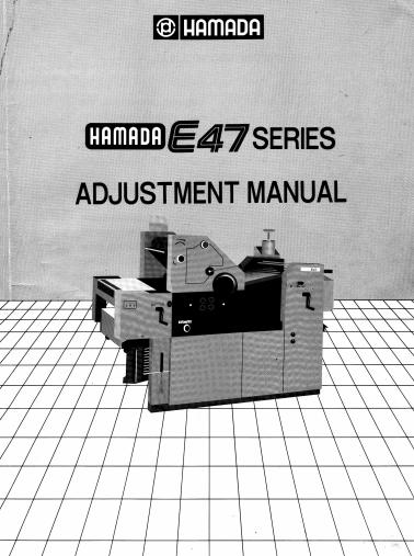 Hamada E47 adjustment manual als pdf